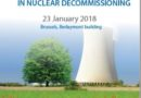 "Tavola rotonda ""SUPPORTING EUROPEAN EXPERTISE IN NUCLEAR DECOMMISSIONING"" (Bruxelles, 23 gennaio 2018)"