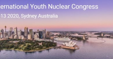 A Sydney, dall'8 al 13 marzo, l'International Youth Nuclear Congress 2020