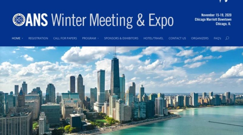 ANS Winter Meeting & Expo 2020
